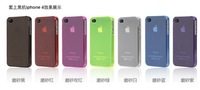for iphone 4G 4S case crystal clear hard plastic skin many colors 10pcs free shipping