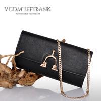 2013 women's spring handbag fashion vintage genuine leather chain bag day clutch shoulder bag all-match