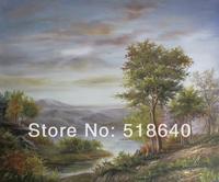 Free Shipping Canvas Handpainted Oil Painting  Natural Landscape Picture Decorative Paint Pt90