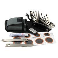 Multifunctional bicycle mountain bike repair tool tire repair tools combination tool bag set belt chain device
