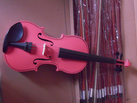 Colorful 4/4 violin in pink color
