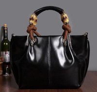 New arrived Fashion brief women's handbag top quality genuine leather handbag exquisite bamboo handbag messenger bag sa0013