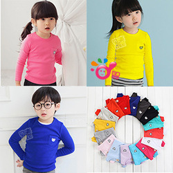 2013 spring candy bear boys clothing girls clothing baby long-sleeve T-shirt tx-1202 basic shirt(China (Mainland))