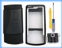 MOBILE PHONE  BLACK COVER HOUSING CASE +KEYPAD TOOL FOR NOKIA N72