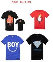 2013 mens hip hop t shirt new style crooks and castles diamond supply dgk trukfit ymcmb big size s-xxl 5 pcs Per Lot
