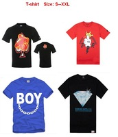 2013 mens hip hop t shirt new style crooks and castles diamond supply dgk trukfit ymcmb big size s-xxl 5 pcs Per Lot