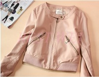 Japanese Style 2013 Women's Spring Autumn Hot-selling Jacket All-match Coat O-neck Short Design Leather Clothing