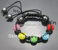 Free Shipping! Handmade Shamballa Bracelet for Kids FREE Shipping,children/ kids jewelry, Kids Shamballa Bracelets  1pcs