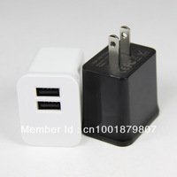 Hotsales ! 100%Guaranteed Free Shipping 200pcs\lot Powerful 2.1A Dual USB Wall charger EU\US Plug