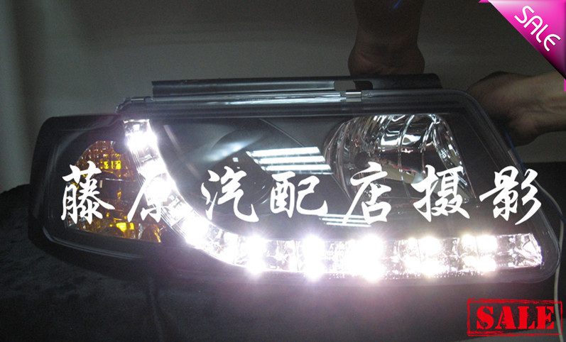 Passat B5 Angel Eye Headlights Led Headlight Conversion Dacryops Auto Parts Head Lamp(China (Mainland))