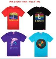 Men's fashion 2013 Pink Dolphin t-shirt,high quality hip hop fashion New style t-shirt 10 pcs Per Lot