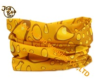 multifunctional seamless tubular yellow water drop printed headwear bandana