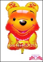 free shipping bear foil balloons ,animal shape balloon.  aluminium foil balloon size 74x43cm
