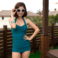 Swimwear swimwear 2013 small push up skirt one piece sexy swimwear 3023 women's