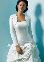J1 winter long sleeve satin wedding jacket