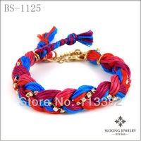 bright colorful bracelet soft cotton cord bracelet unique bracelet handmade jewelry 20 pcs/lot--free shipping