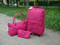 Three-piece 2013new Piece set Women travel trolley bag handbag cosmetic bag