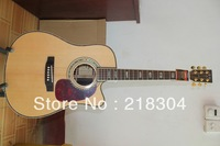 wholesale new style  Cream-colored Cutaway Acoustic Guitar Free shipping HOT