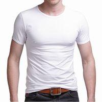 2013 100% cotton t-shirt tight basic underwear men tops male short-sleeve tshirt muscle men t shirt sexy men tanks,