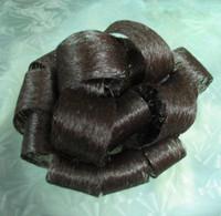 New sexy curly women's black colored fashion chignon