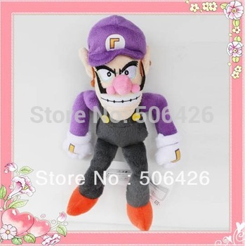 "Free Shipping EMS Super Mario Bros Brothers Waluigi 11"" Plush Doll Waluigi plush Purple plush toy Wholesale"