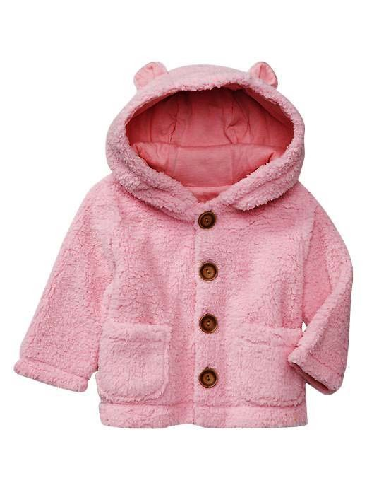 2013 spring female child ecgii outerwear style top coral fleece hat long-sleeve outerwear(China (Mainland))