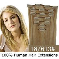 """Bulk/Wholesale Clip In Remy Hair Extensions 18""""(45cm) 70g sets 7pcs , Multi Color To Choose"""