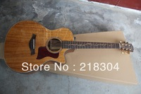 Free shipping high quality brown 6 String solid K24CE acoustic guitar new Taylor K24CE electric acoustic guitar