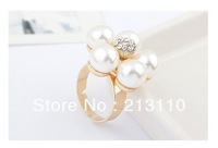 New Arrival Gold Plating Simple Adjustable Flower Shaped Finger Ring High Qualiy Free Shipping
