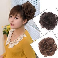 Free shipping Everfortune real hair involucres hair bag bulkness real hair headband curly short hair maker