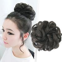 Free shipping Free shipping Fashion real hair bud head meatball head hair accessory steamed stuffed bun hair headband