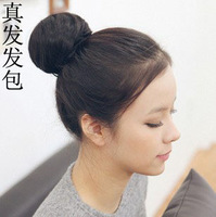 Free shipping Fashion real hair bud head meatball head buns hair bag headband