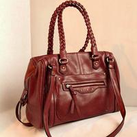 Leleshop 2012 knitted handbag motorcycle bag fashion vintage bag shoulder bag