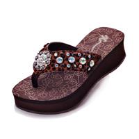 SALE New 2014 Summer Sandals for women sandalias Women Wedges platform sandals Fashion Leopard Rhinestone Flip Flops With Box