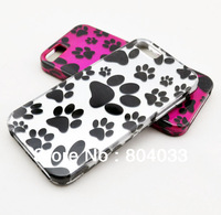Bear Prints Style Plastic Protective Case Cover for iphone5  Cat Paw Print Cover for iPhone5G Free Shipping