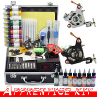 2 Guns Professional Tattoo Machine Kit 9 Colors 30ml Inks Power Tips needles Supply Tattoos set Equipment