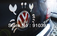 Free shipping Retail pack sliver PVC 3D car sticker,DIY fashion Crab car decal as decoration sticker as car auto accessory.