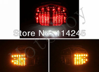Clear Integrated LED Tail Light Signals For Suzuki GSXR600/ 750 2000 - 2003 For Suzuki GSXR 1000 01-02 motorcycle tail lamp