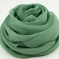 Spring and summer mulberry silk solid color oversized paragraph of silk scarf women's silk scarf cape fresh mint green