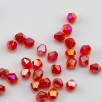 HOT Best 1000pcs 3mm Austrian Crystal bicone Beads Red AB  (YZ1485)