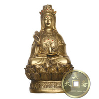 Carving Work of Art Copper avaloktesvara bronze sculpture, Bronze copper avaloktesvara apotropaic htn-030