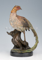 Carving Work of Art Copper crafts fashion copper sculpture home decoration gift quality gift colorful pheasant dw-044b