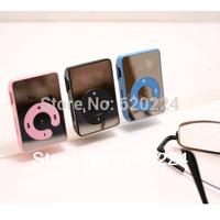 Wholesale 20pcs/lot !Newest Mini Sport Mirror clip MP3 Player 6 Colors Free shipping