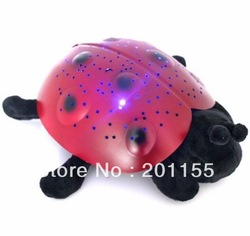 In stock Constellation Projector Lamp Twilight Ladybug Night Light Amazing Star(China (Mainland))