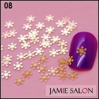 Gold Metal Simple Snowflake Slice Nail Art Decals Fancy Metallic Nail Art Decoration 1000pcs/lot  #08