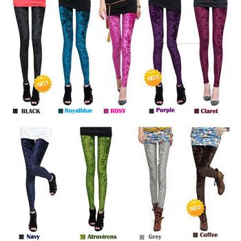 Hot Women's Diamond Velvet Sexy Soft Stretch Leggings Slim Fit Pants