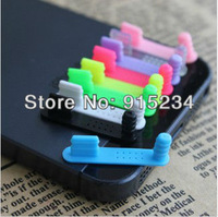 Free Shipping Silicone Soft 2 in 1 Dust Plug and USB Dust Plug Factory Direct Phone Accessories for iPhone 5