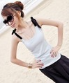 Hot Sell 3 Colors Vest Classic Korea Body Slim Cotton Shirt One Size Free Shipping