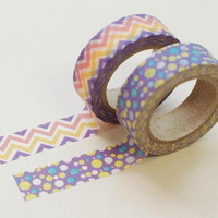 E2 seamless print diy decoration tape a pair of purple dot
