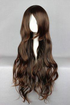 65cm Long NO.6-Inukashi  Dark Brown Cosplay Costume Wig